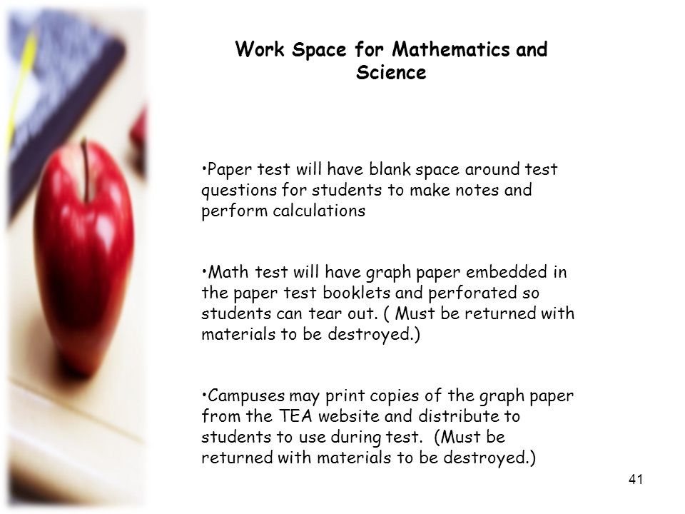Work Space for Mathematics and Science