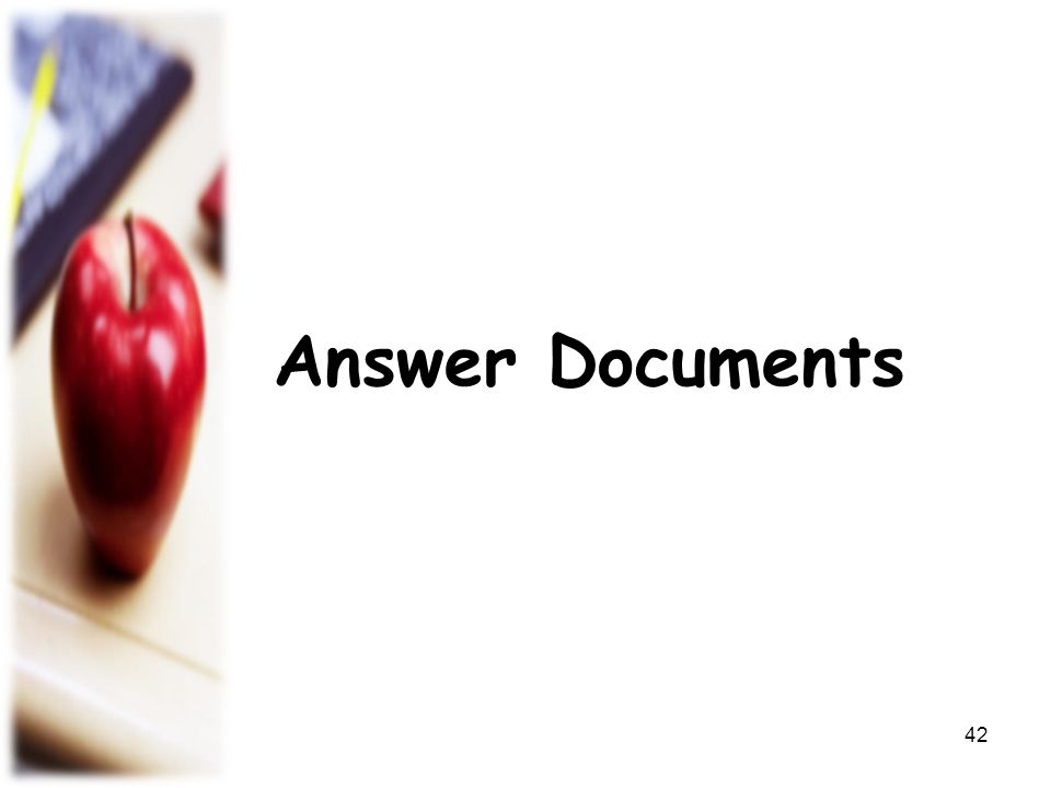 Answer Documents 42