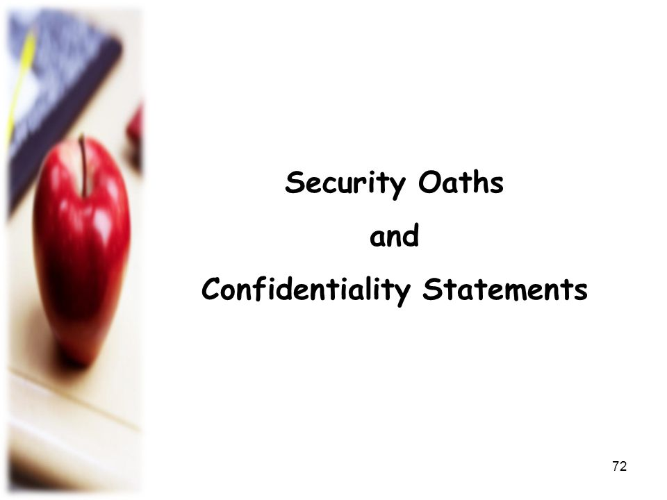 Confidentiality Statements