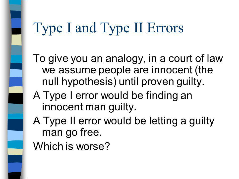 Type I and Type II Errors