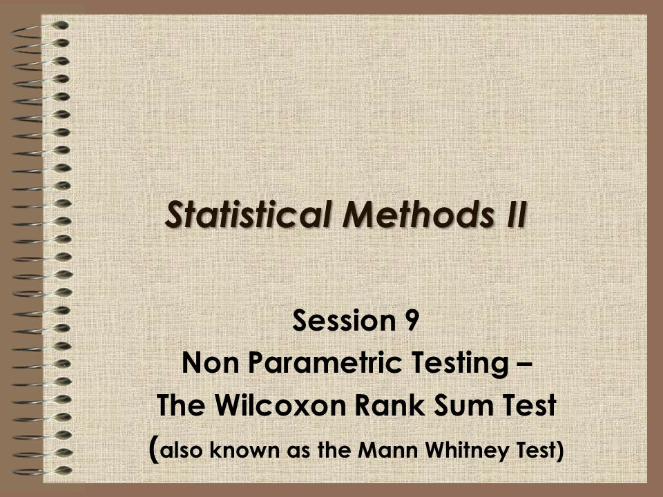 Statistical Methods II