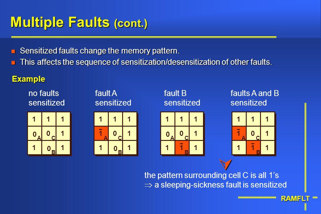 Multiple Faults (cont.)