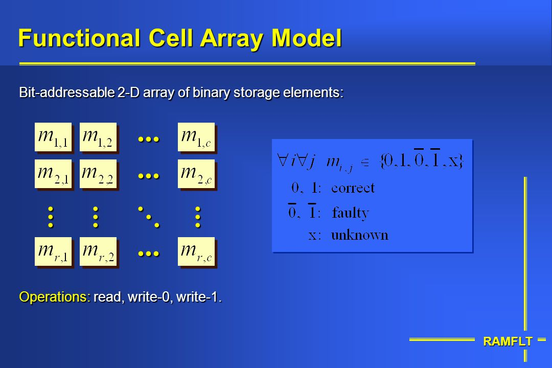 Functional Cell Array Model