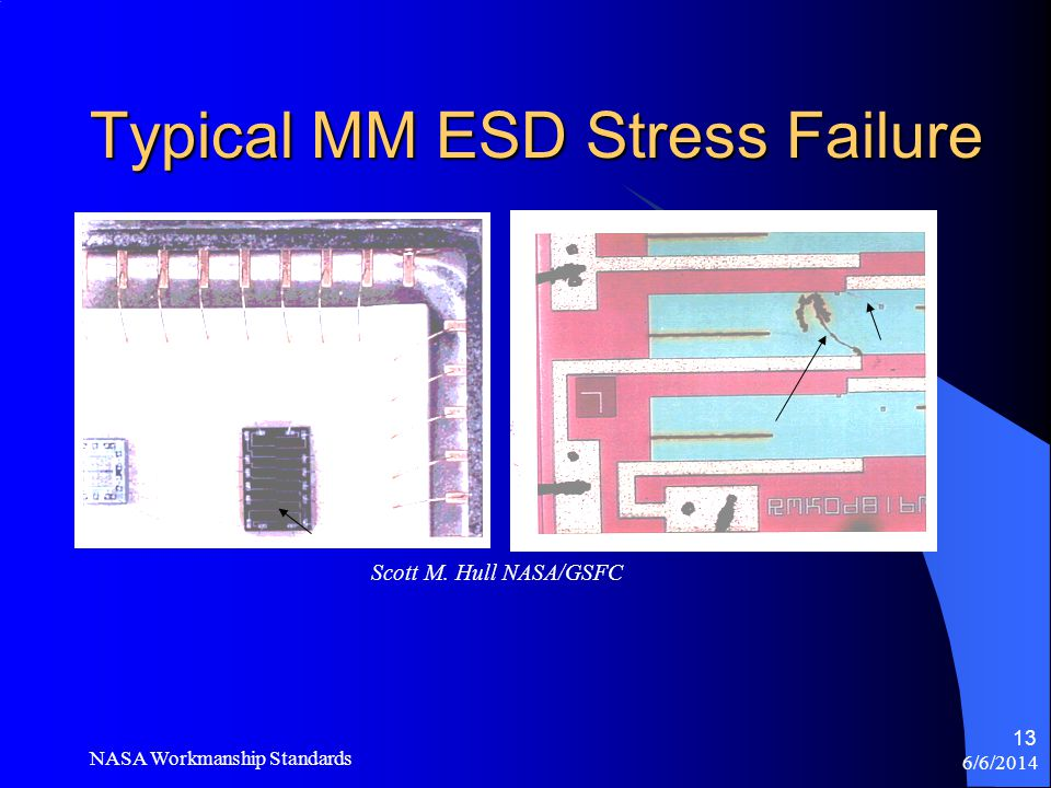 Typical MM ESD Stress Failure
