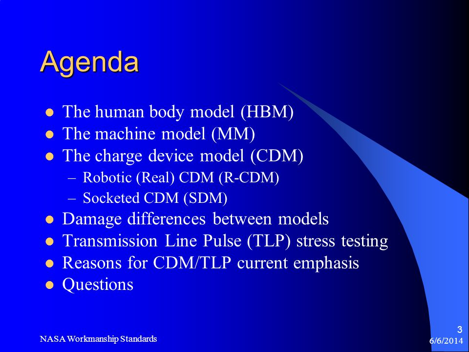 Agenda The human body model (HBM) The machine model (MM)