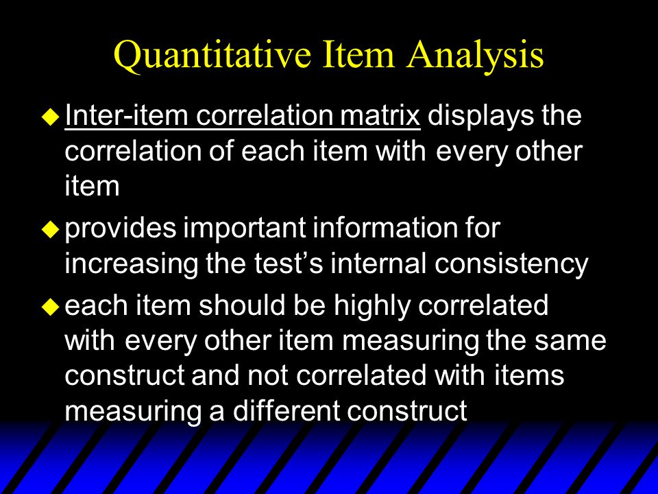 Quantitative Item Analysis