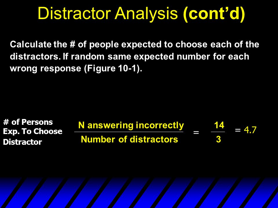 Distractor Analysis (cont'd)