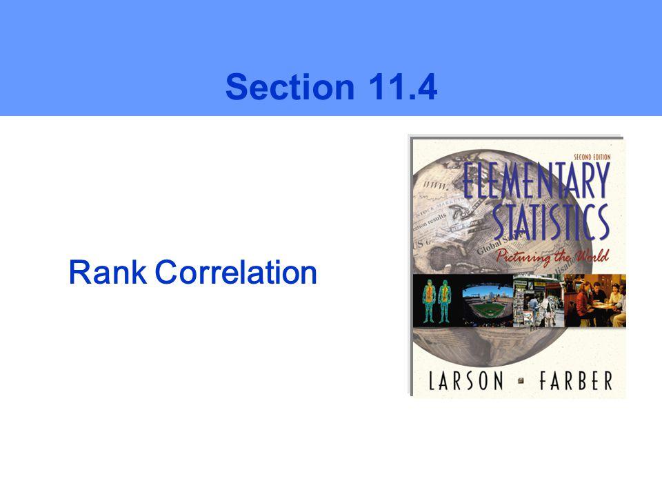 Section 11.4 Rank Correlation