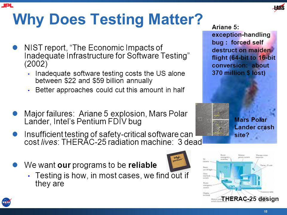 Why Does Testing Matter