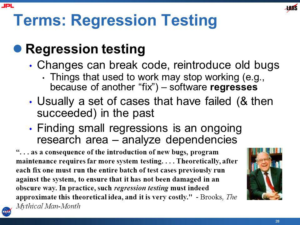 Terms: Regression Testing