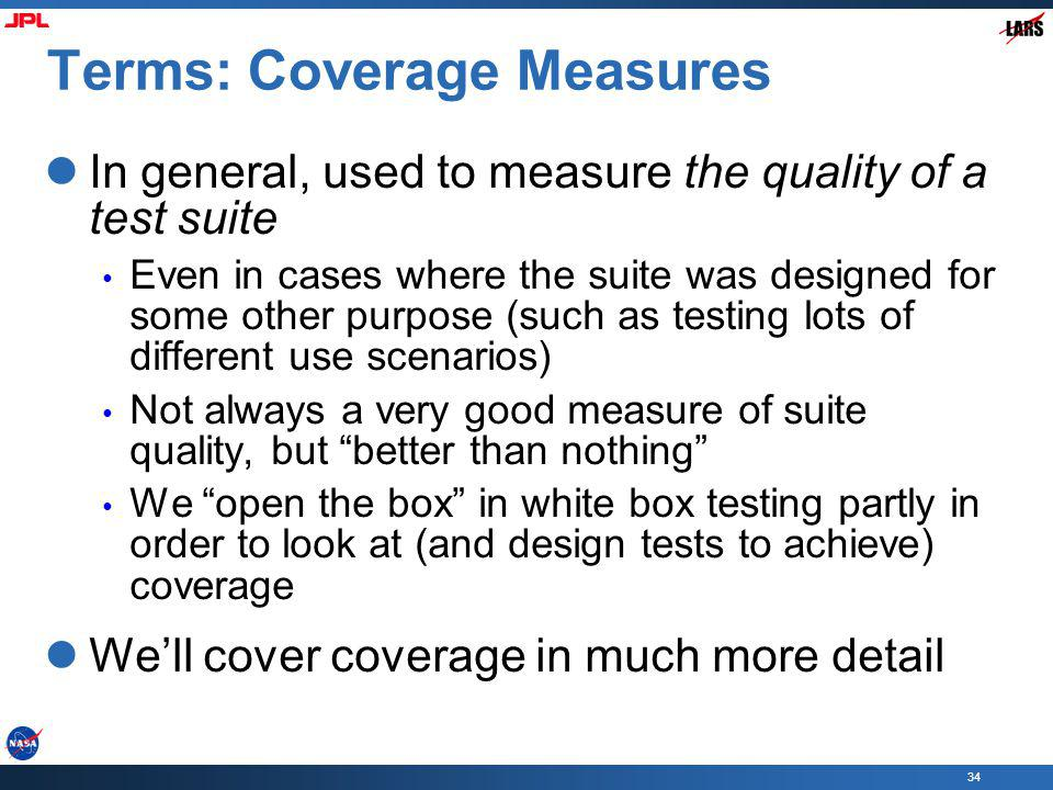 Terms: Coverage Measures