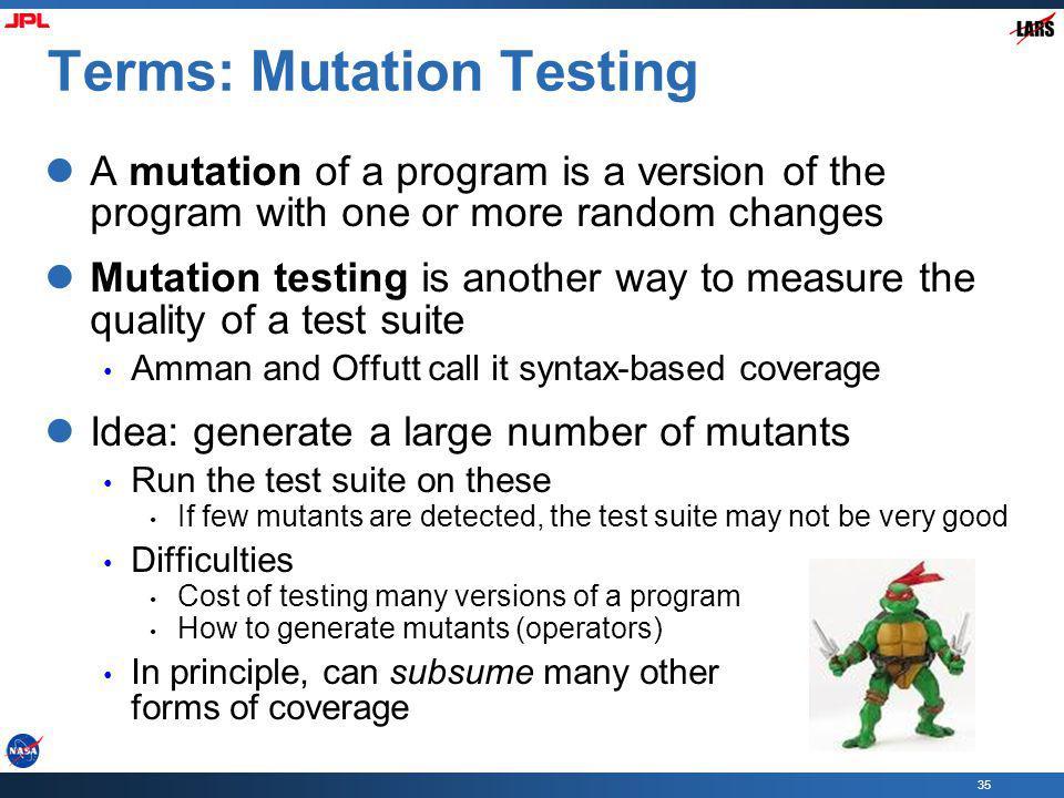 Terms: Mutation Testing