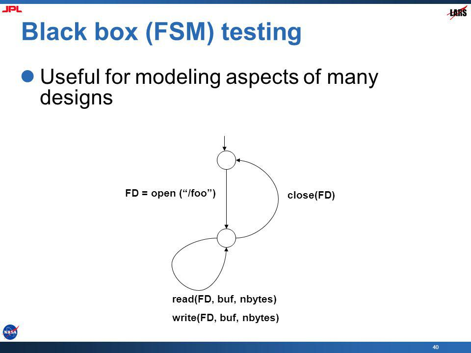 Black box (FSM) testing