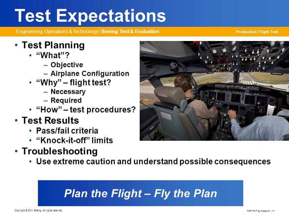 Plan the Flight – Fly the Plan