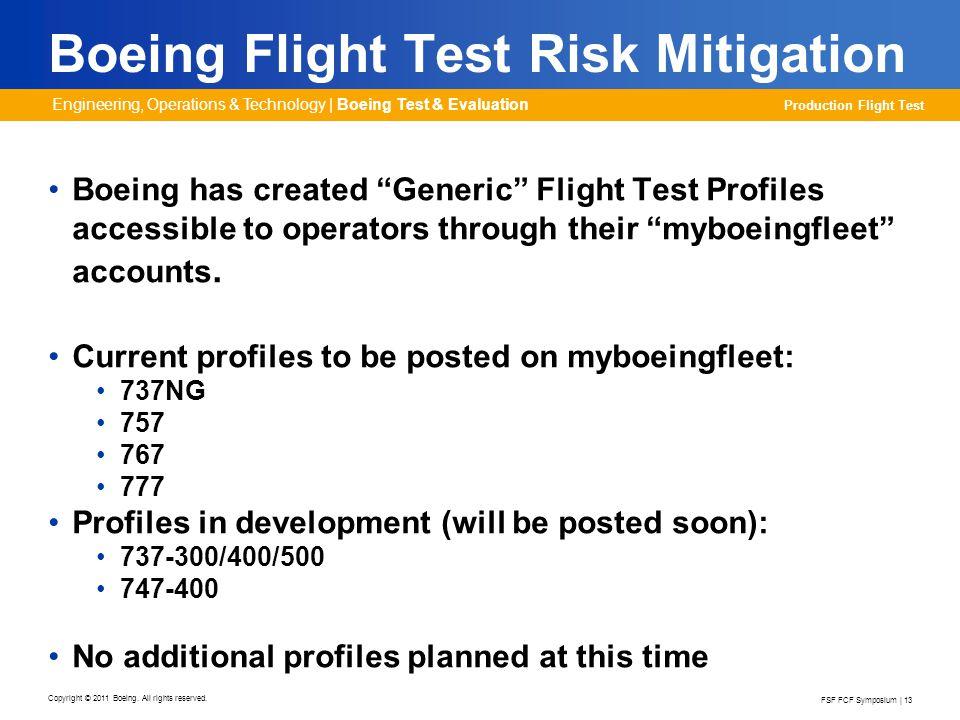 Boeing Flight Test Risk Mitigation