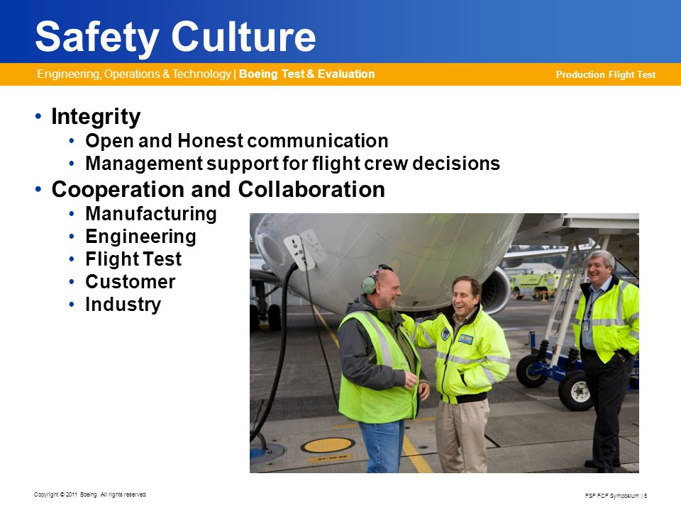 Safety Culture Integrity Cooperation and Collaboration