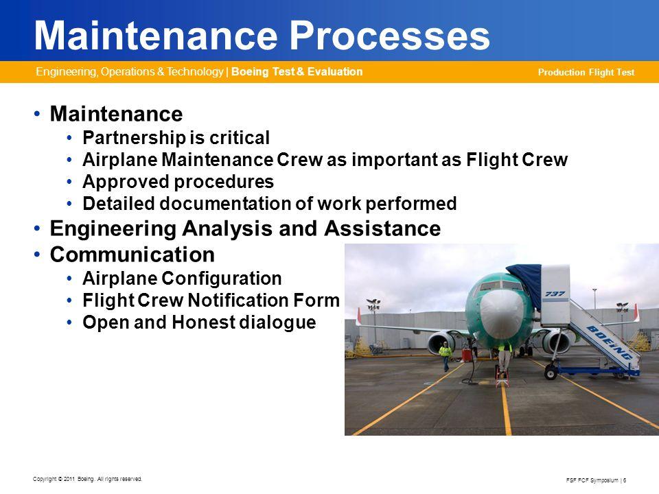 Maintenance Processes