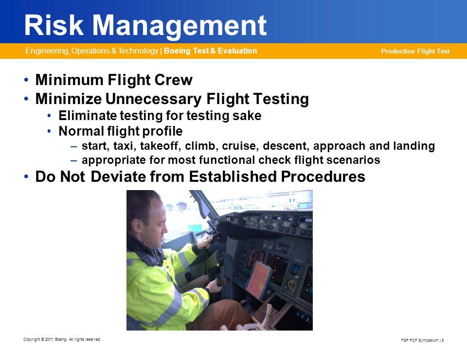 Risk Management Minimum Flight Crew