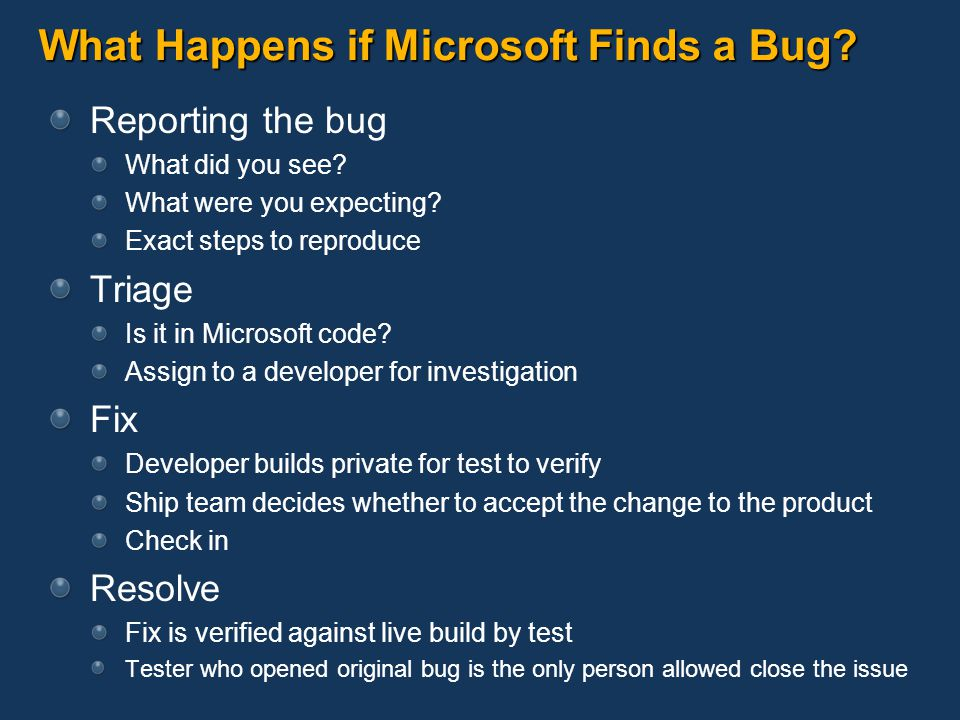 What Happens if Microsoft Finds a Bug