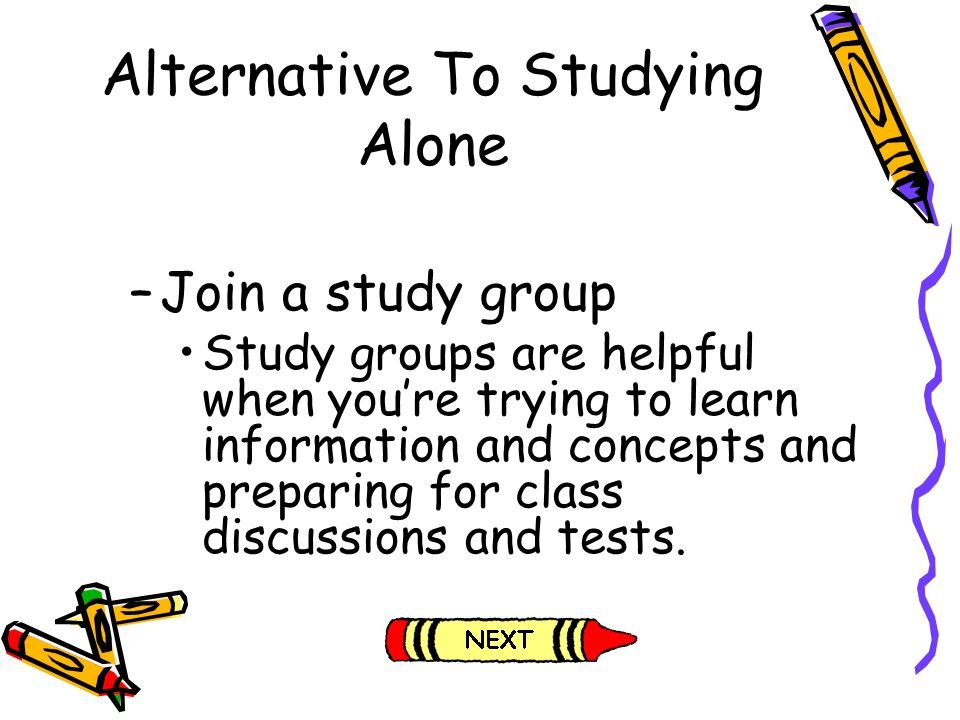 Alternative To Studying Alone