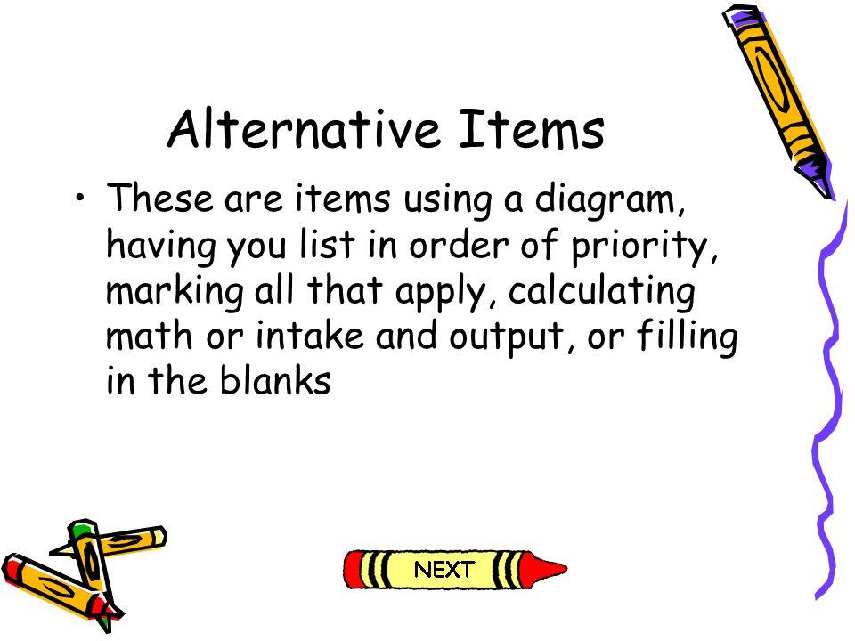Alternative Items