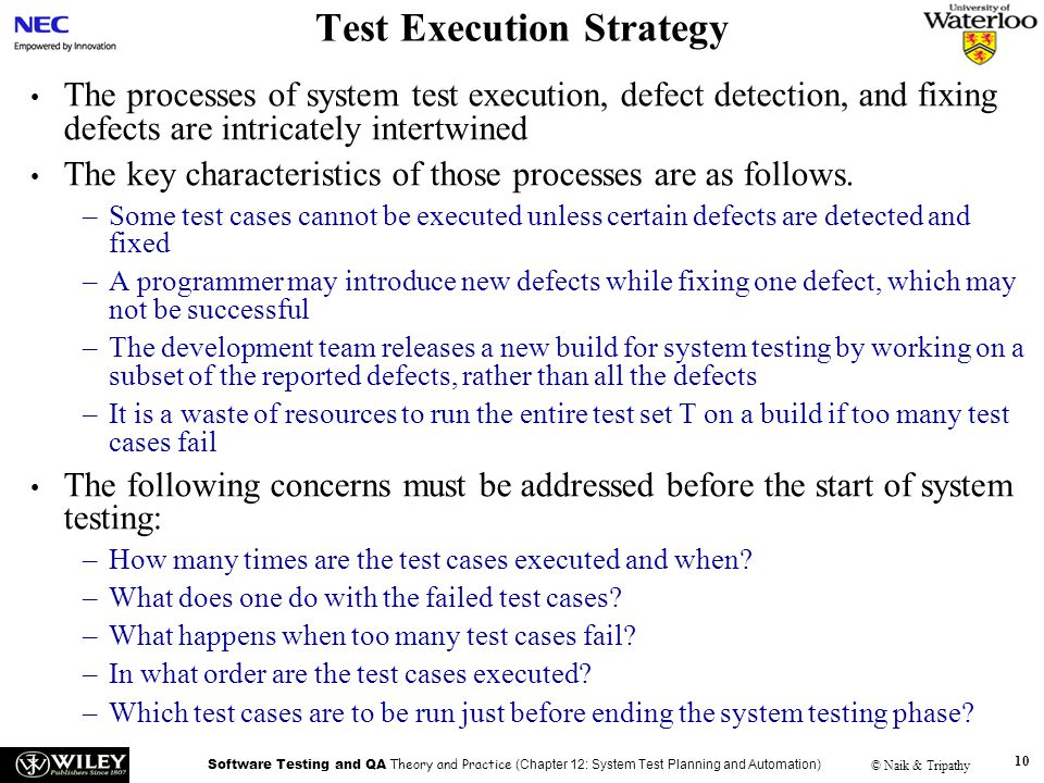 Test Execution Strategy