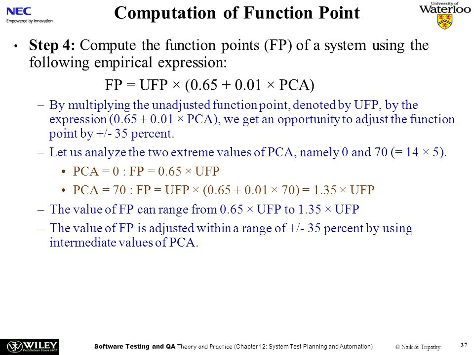 Computation of Function Point