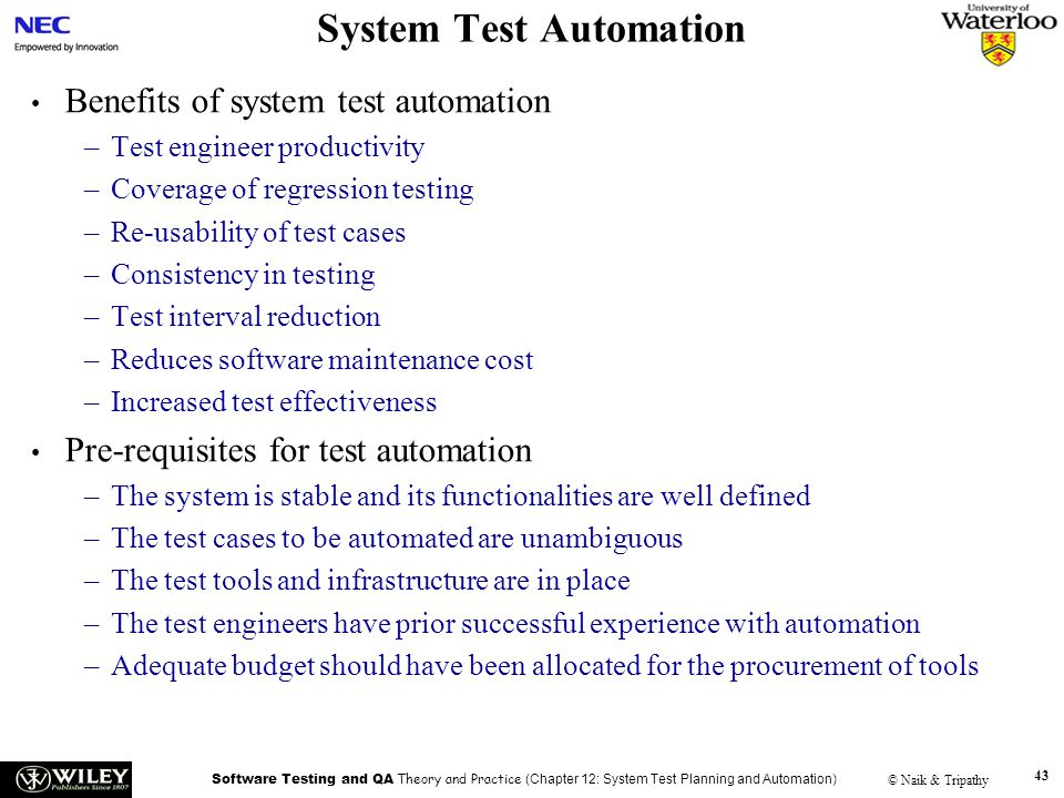 System Test Automation