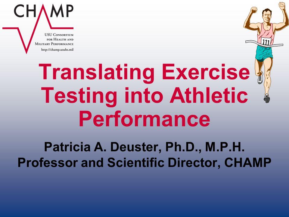 Translating Exercise Testing into Athletic Performance