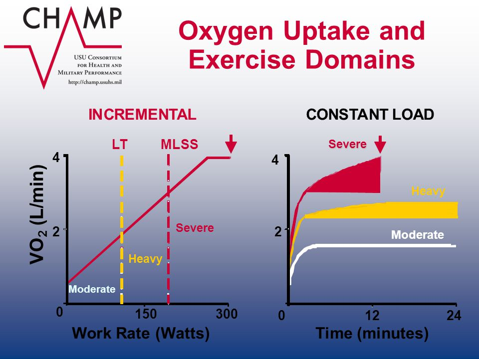 Oxygen Uptake and Exercise Domains
