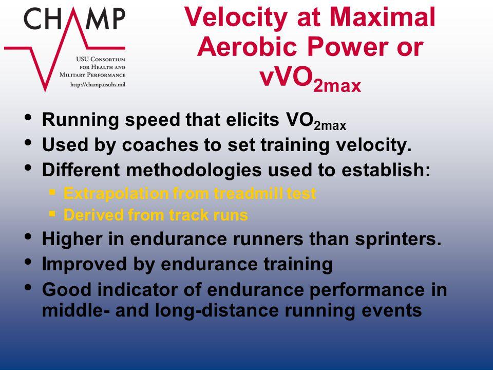 Velocity at Maximal Aerobic Power or vVO2max