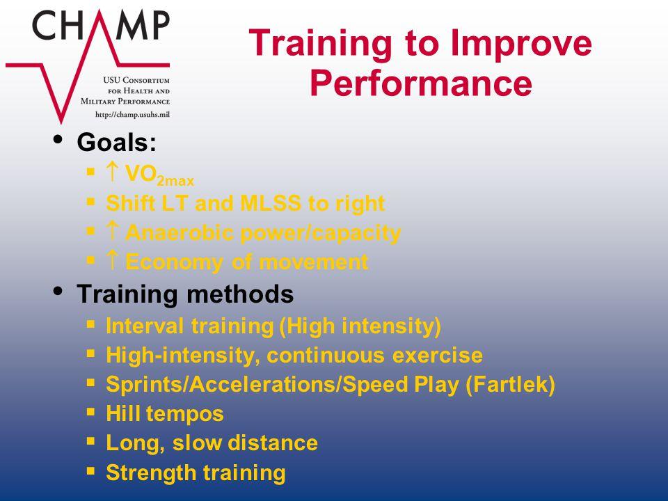 Training to Improve Performance