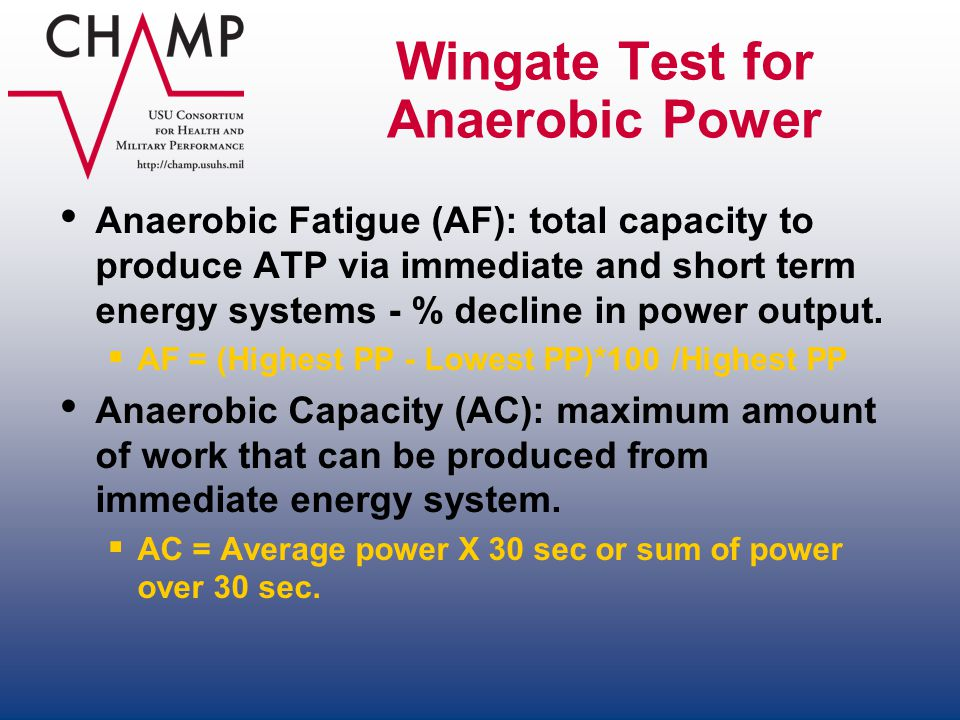 Wingate Test for Anaerobic Power