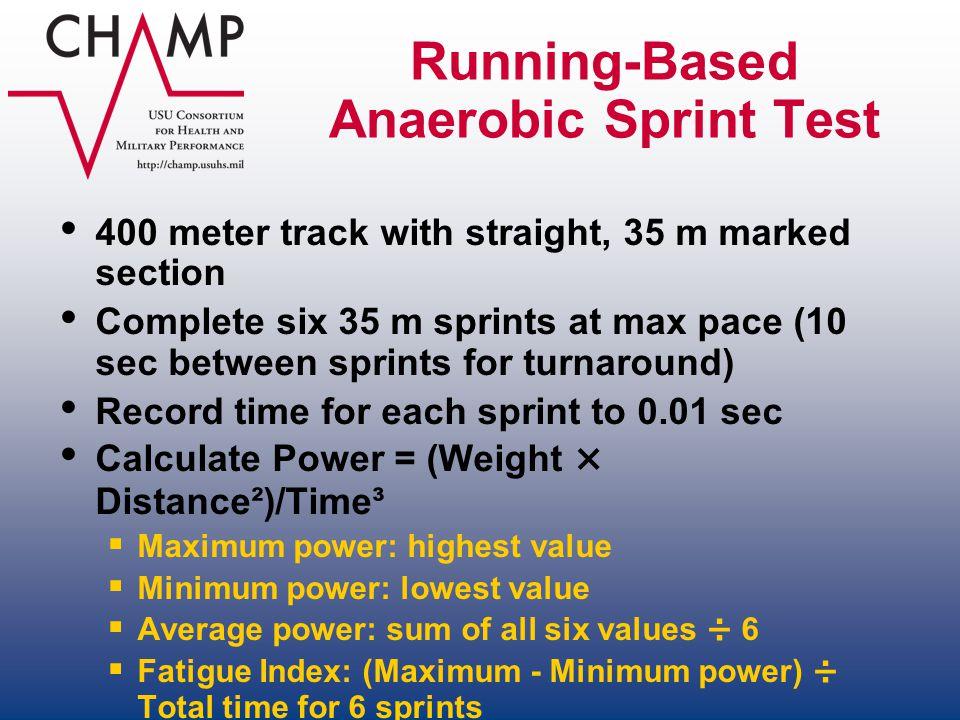Running-Based Anaerobic Sprint Test