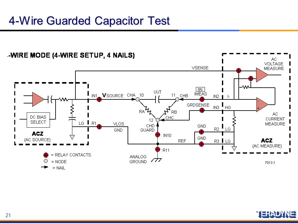 4-Wire Guarded Capacitor Test
