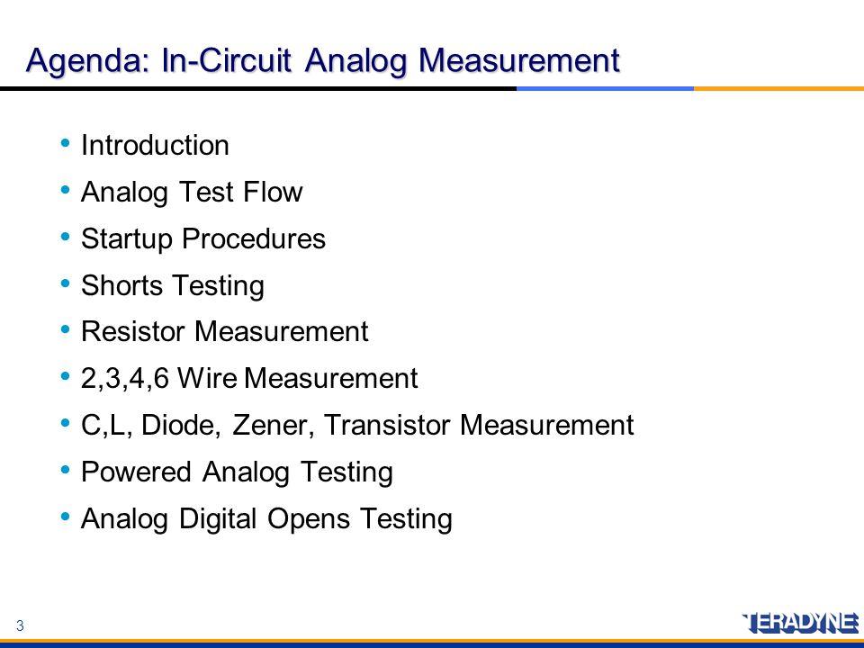 Agenda: In-Circuit Analog Measurement