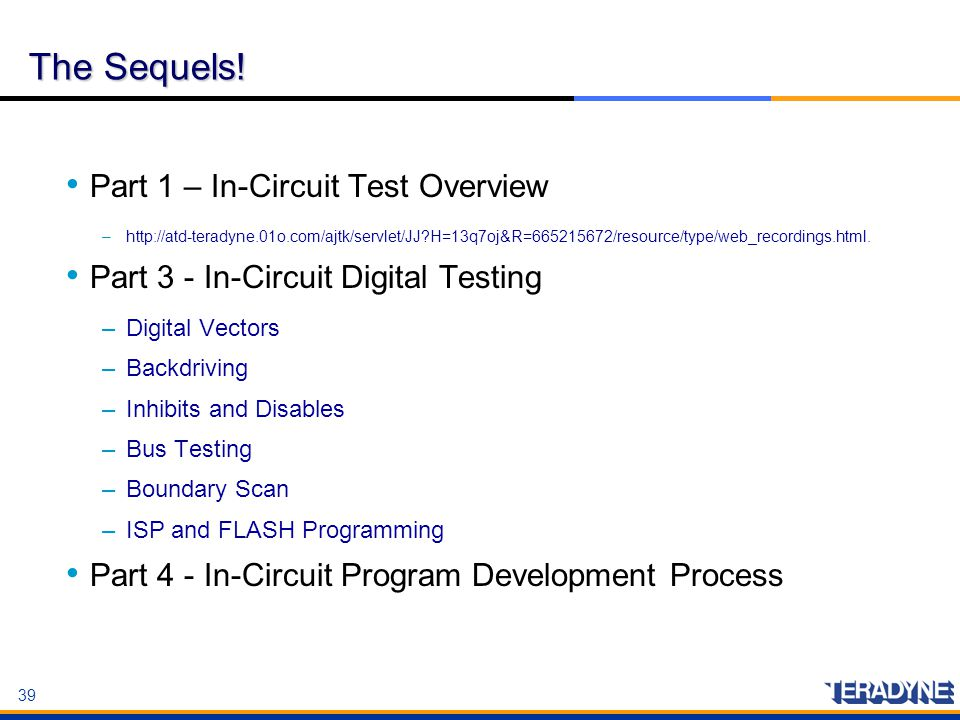 The Sequels! Part 1 – In-Circuit Test Overview