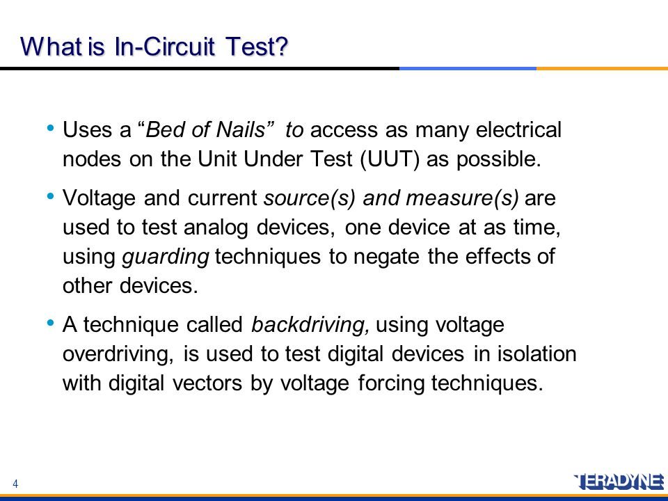 What is In-Circuit Test
