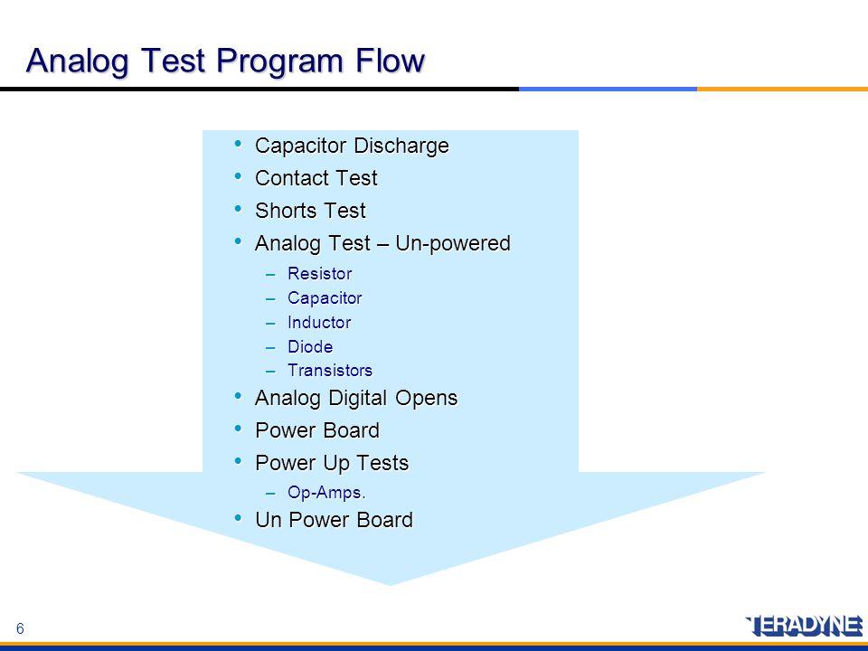 Analog Test Program Flow