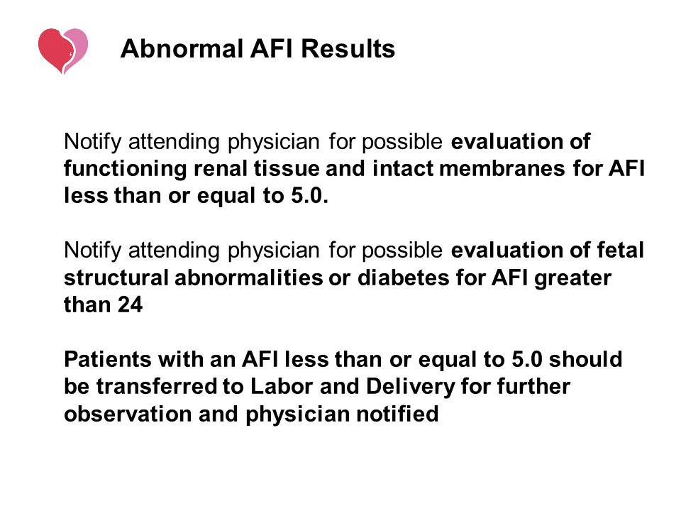 Abnormal AFI Results