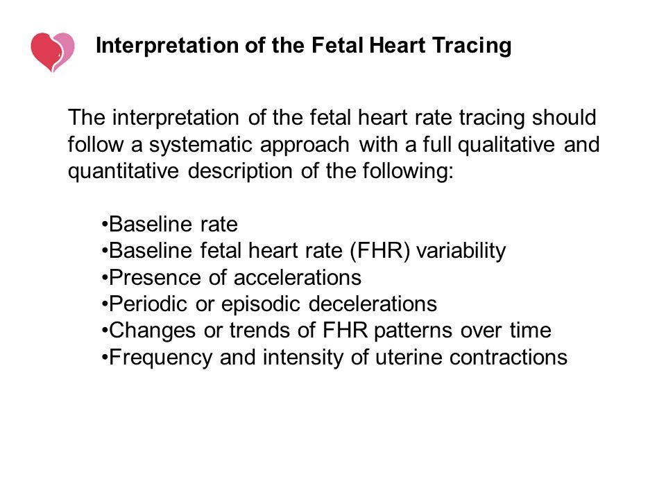 Interpretation of the Fetal Heart Tracing