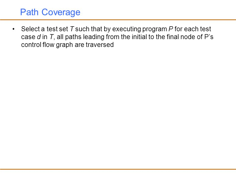 Path Coverage