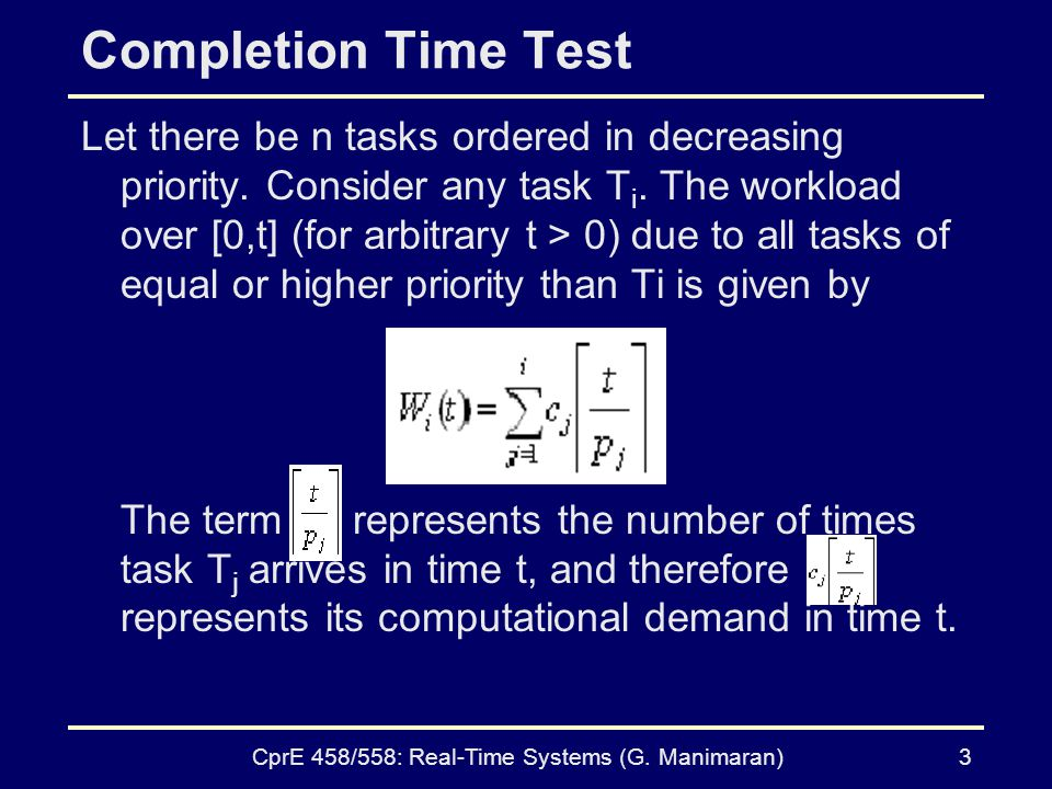 CprE 458/558: Real-Time Systems (G. Manimaran)