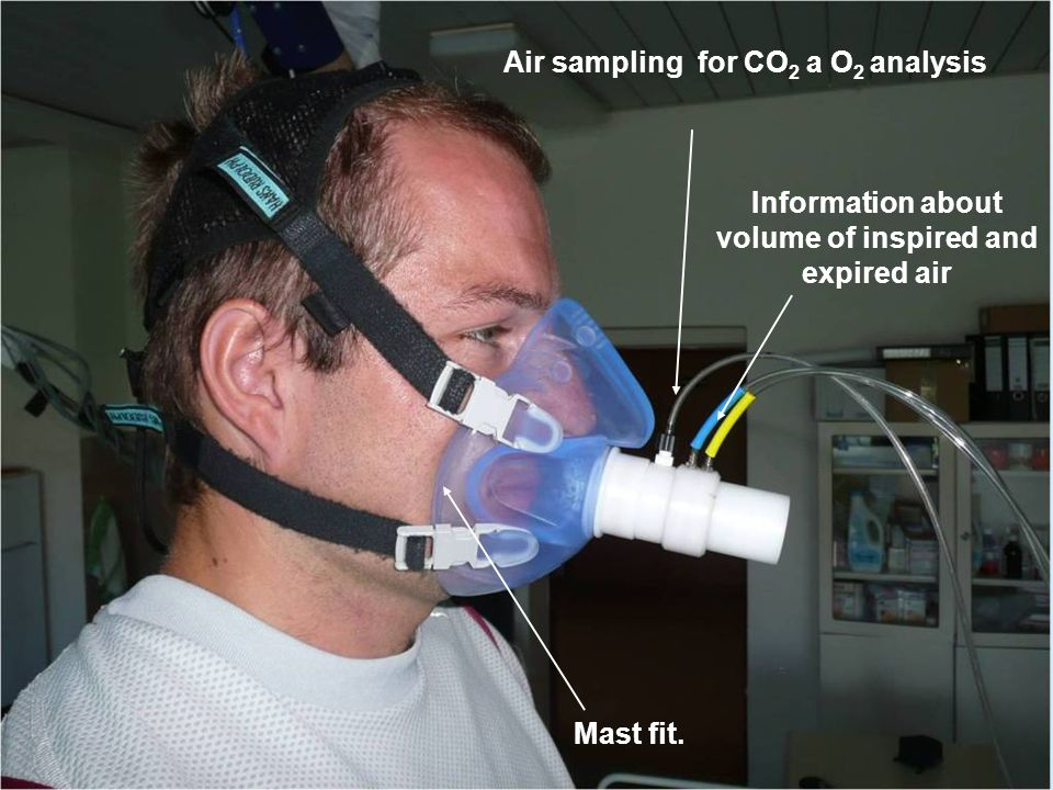 Air sampling for CO2 a O2 analysis