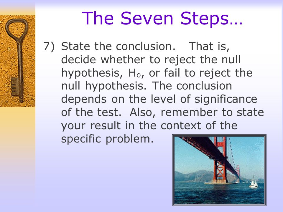 The Seven Steps…