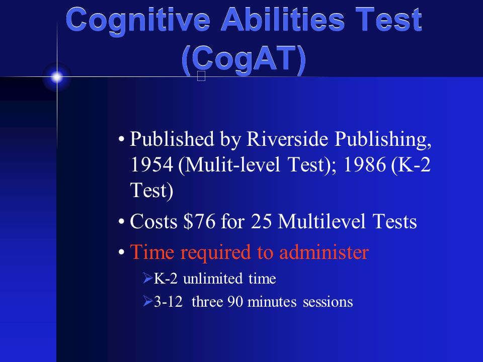 Cognitive Abilities Test (CogAT)
