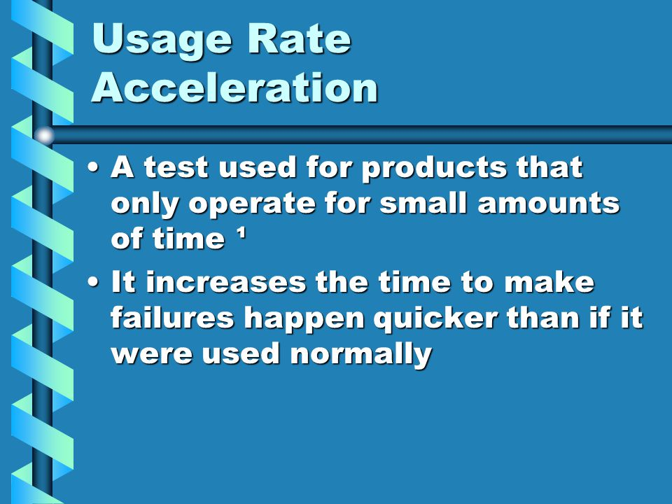 Usage Rate Acceleration
