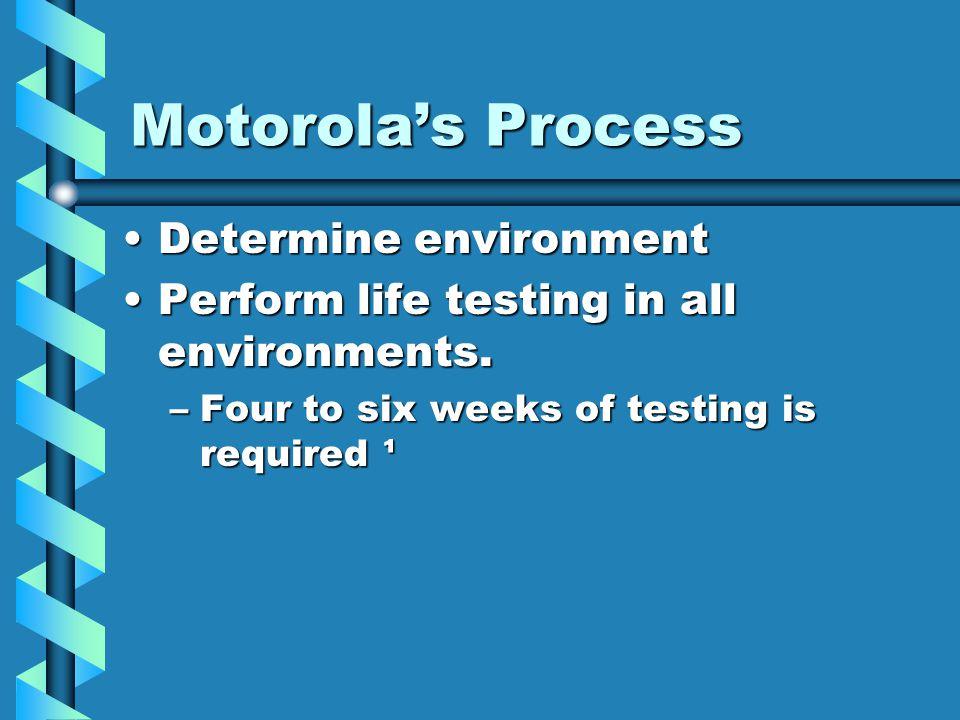 Motorola's Process Determine environment