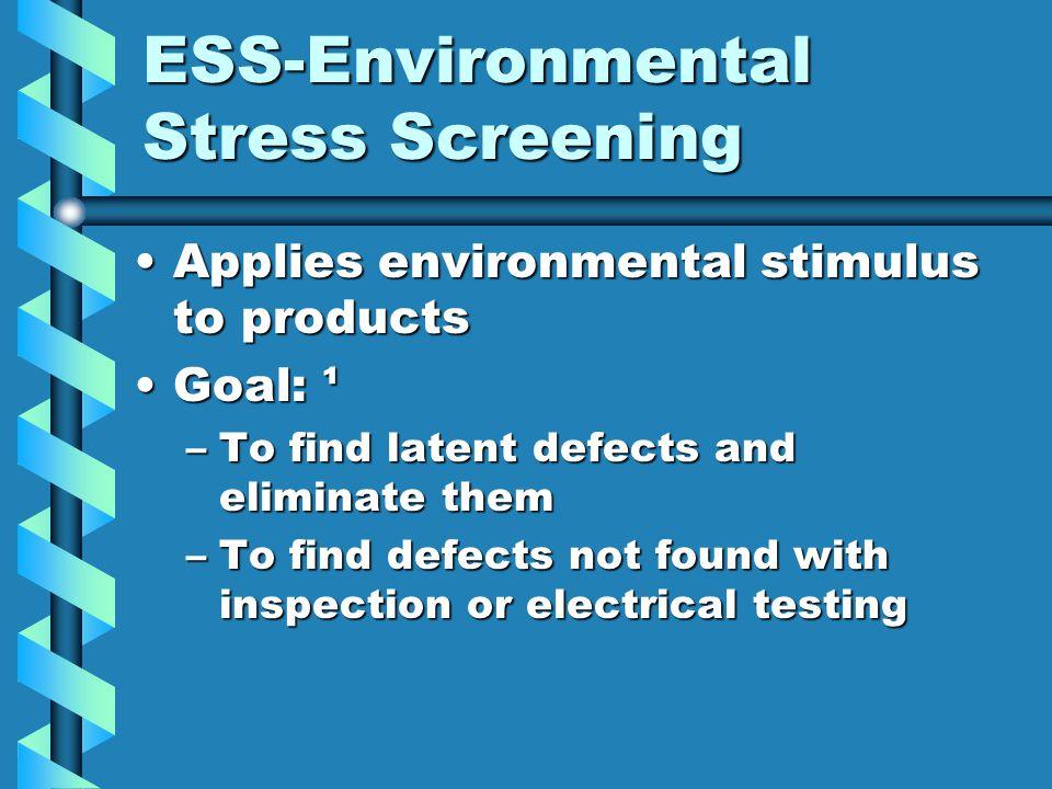 ESS-Environmental Stress Screening