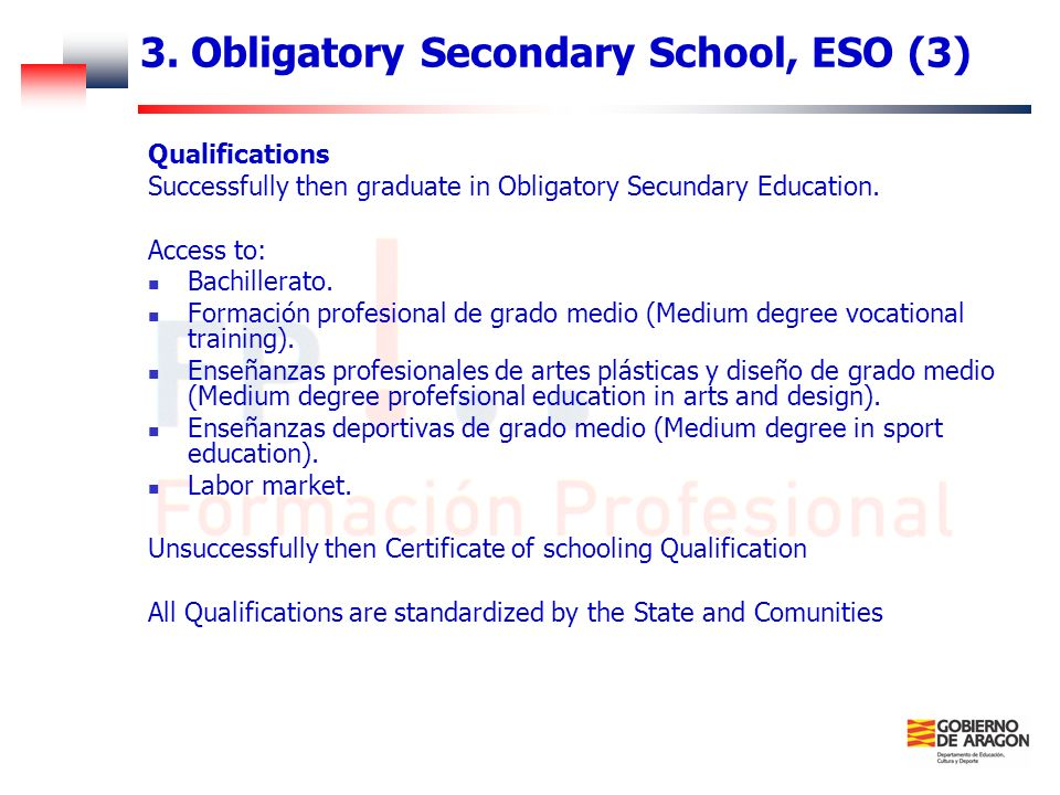 3. Obligatory Secondary School, ESO (3)